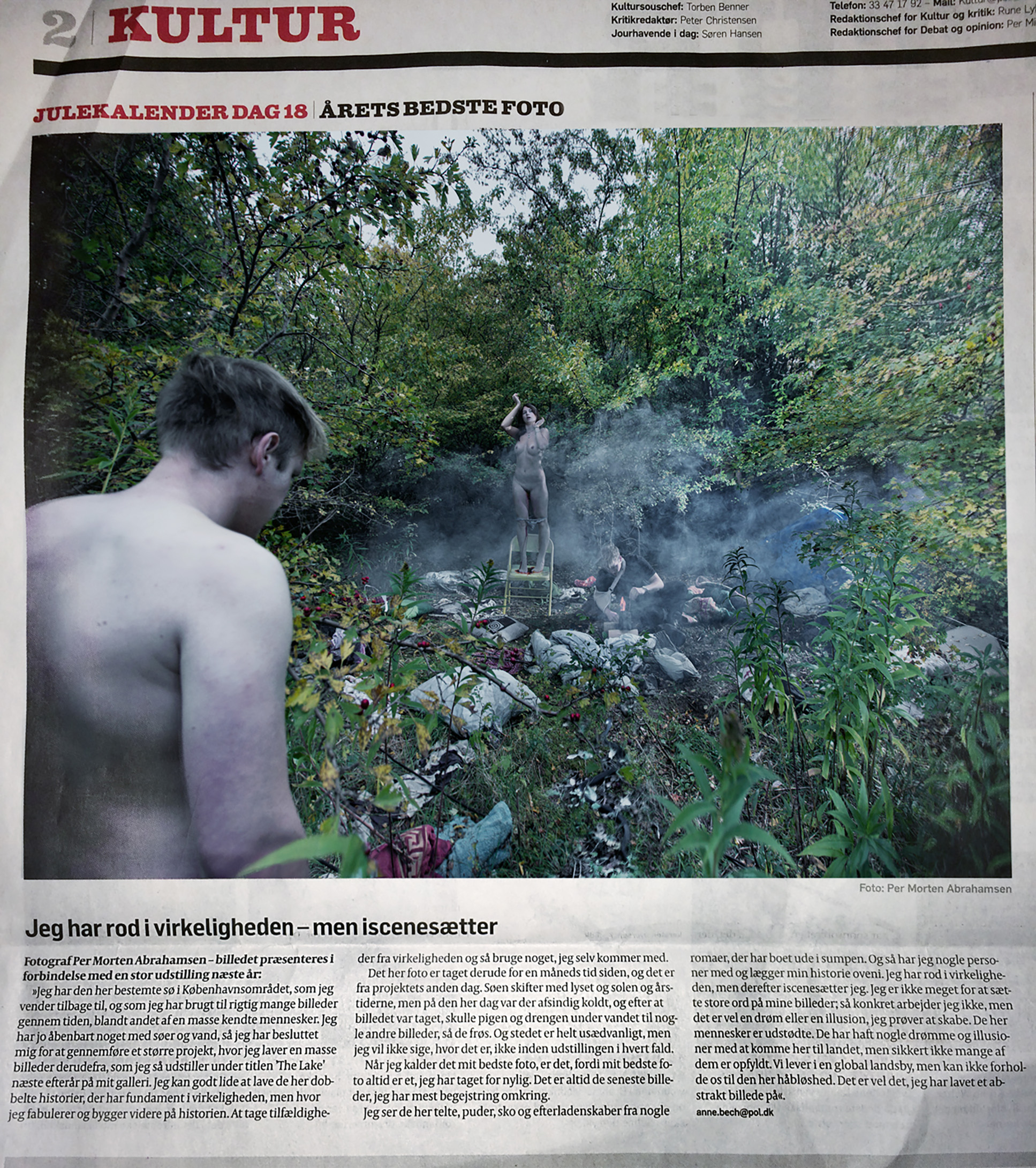 Per Morten Abrahamsen, review, photography,  om fotografi, anmeldelse, lake Politiken